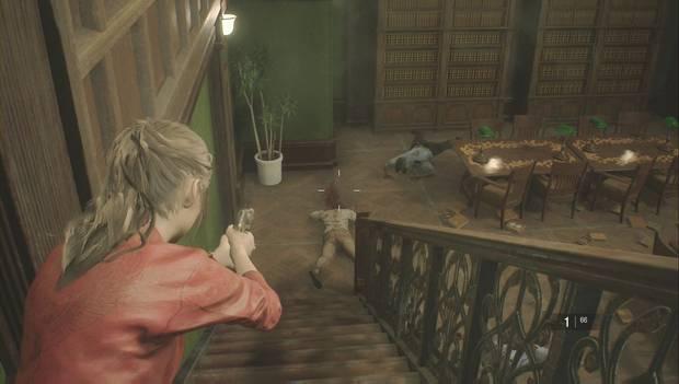 Resident Evil 2 - Encuentra los 3 medallones: elimina a los zombis de la biblioteca