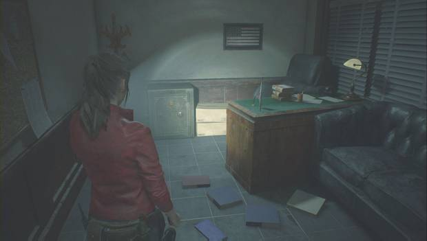 Resident Evil 2 - Encuentra los 3 medallones: caja fuerte