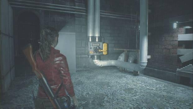 Resident Evil 2 Remake - Encuentra las piezas del panel eléctrico: Acciona la palanca