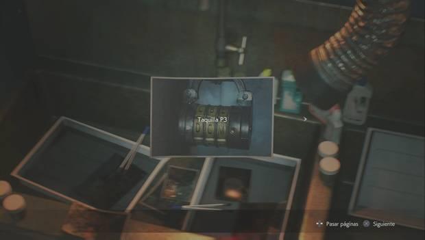 Resident Evil 2 Remake - Encuentra las piezas del panel eléctrico: Clave de la taquilla de la tercera planta