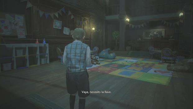 Resident Evil 2 Remake - Escapar del jefe Irons: Sherry necesita la llave de la puerta principal