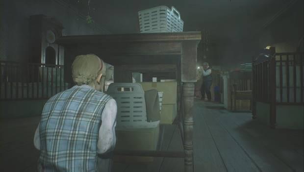 Resident Evil 2 Remake - Escapar del jefe Irons: Escóndete aquí después