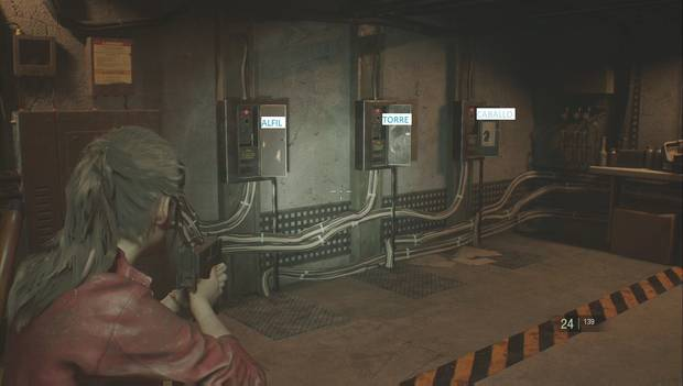 Resident Evil 2 Remake - Puzzle del ajedrez (izquierda)