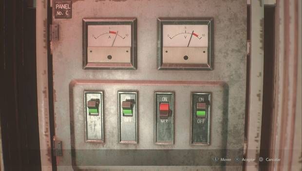 Resident Evil 2 Remake - Puzzle del panel eléctrico de las alcantarillas