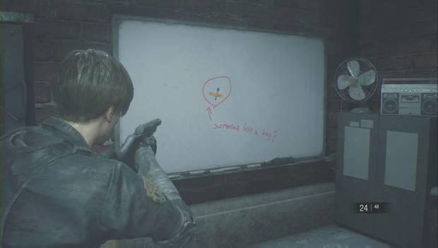 Resident Evil 2 Remake - Encuentra las piezas del panel eléctrico: llave del trébol