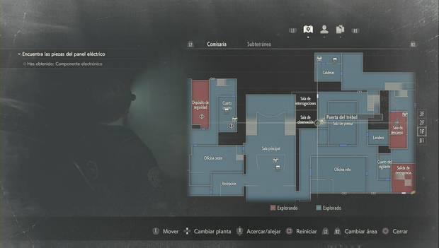 Resident Evil 2 Remake - Encuentra las piezas del panel eléctrico: sala de observación