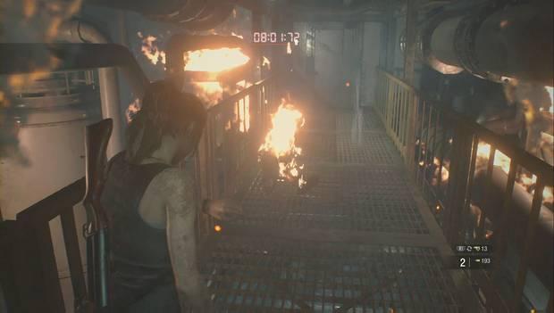 Resident Evil 2 Remake - Investiga el laboratorio: zombi en llamas