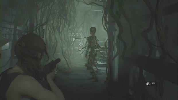 Resident Evil 2 Remake - Investiga el laboratorio: zombi hiedra