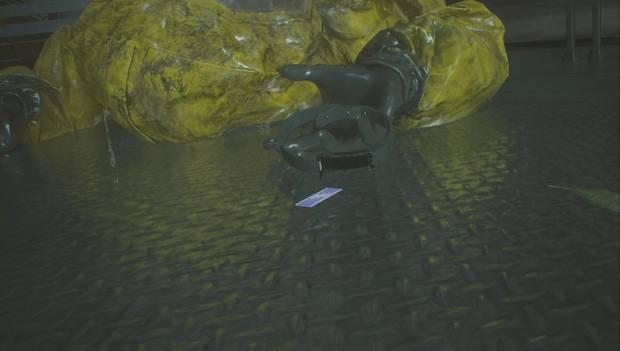 Resident Evil 2 Remake - Investiga el laboratorio: el cadáver cae de la planta