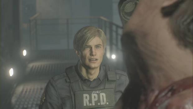 Resident Evil 2 Remake - Leon se enfrenta a Birkin