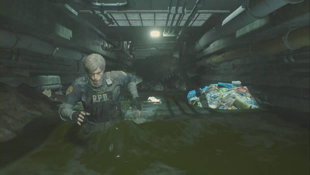 Resident Evil 2 Remake - Escapa de la comisaría: el cocodrilo gigante