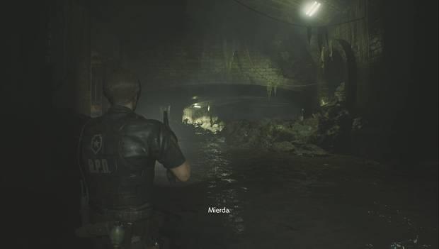Resident Evil 2 Remake - Encuentra los enchufes: el canal inferior
