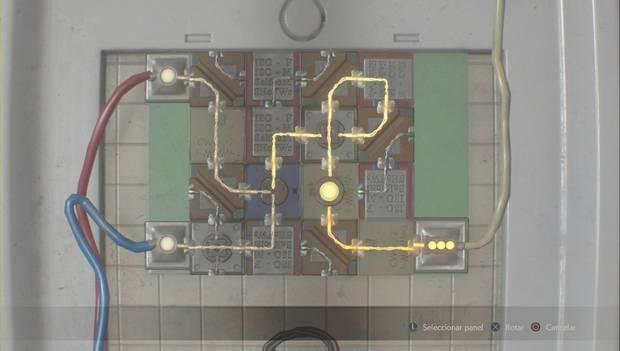 Resident Evil 2 Remake - Puzzle de circuitos de la celda de Leon: solución Nueva Partida 2