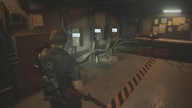 Resident Evil 2 Remake - Puzzle del ajedrez en Nueva Partida 2 (izquierda)