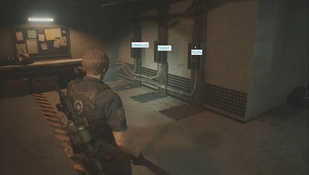 Resident Evil 2 Remake - Puzzle del ajedrez en Nueva Partida 2 (derecha)