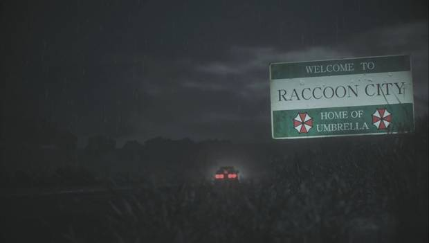 Resident Evil 2 Remake - Cartel de entrada de Raccoon City