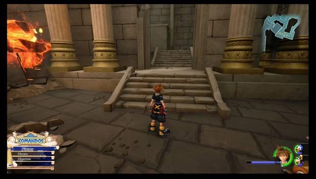 Kingdom Hearts 3 - El Olimpo: Desvío para el cofre con el Cinto Barrera