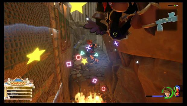 Kingdom Hearts 3 - El Olimpo: Sora ataca en Modo Acróbata