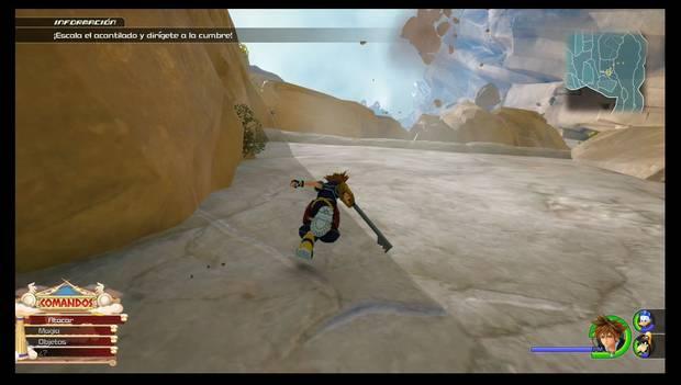 Kingdom Heaerts 3 - El Olimpo: esquiva las rocas gigantes