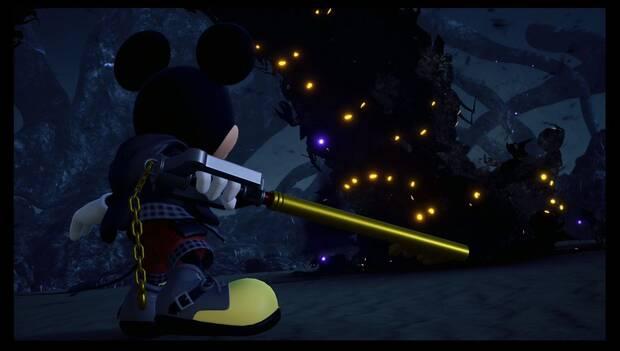 Kingdom Hearts 3 - Mickey observa la Torre maldita