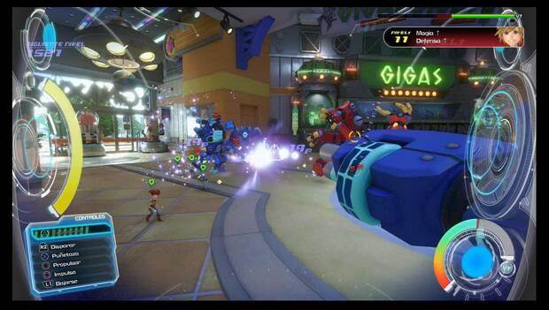 Kingdom Hearts 3 - Caja de Juguetes: usa el Gigas para acabar con los enemigos