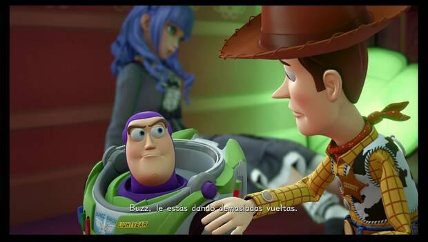 Kingdom Hearts 3 - caja de juguetes: Buzz Lightyear tiene dudas