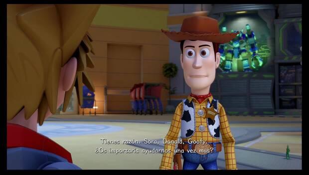 Kingdom Hearts 3 - Caja de Juguetes: Woody pide ayuda