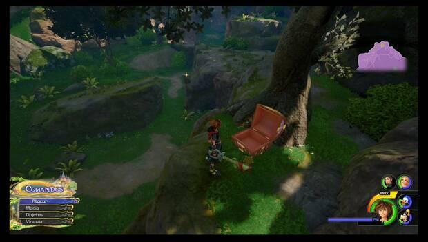 Kingdom Hearts 3 - Reino de Corona: baúl con juego clásico