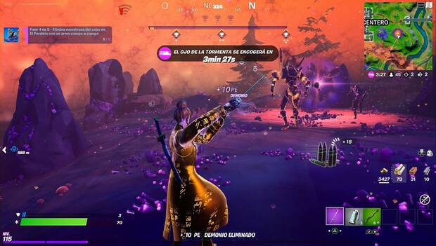 Fortnite - Lobuno Missions: Cube monsters eliminated with pickaxe