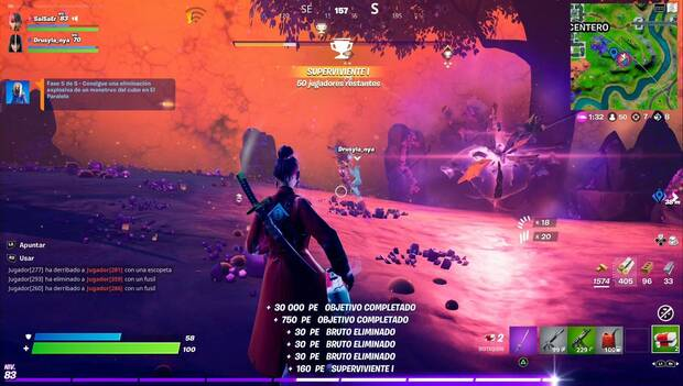 Fortnite - Twilight Hare Missions: Cube Monsters Killed by Grenade