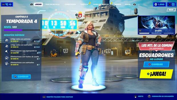 Fortnite Battle Royale - Lobby Screen with Account Back