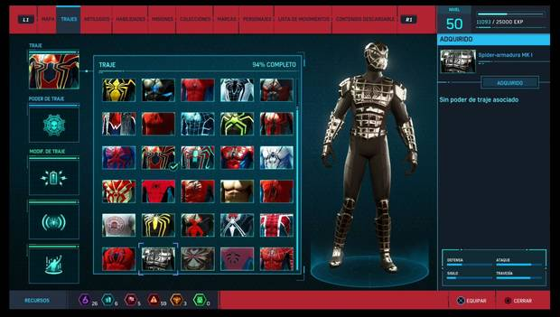 Marvel's Spider-Man - Trajes: Spider-armadura MK I