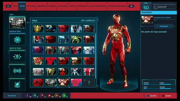 Marvel's Spider-Man - Trajes: Armadura Iron Spider