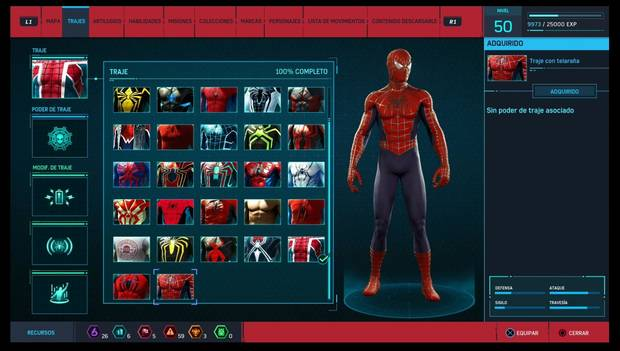Marvel's Spider-Man - Trajes: Traje con telaraña