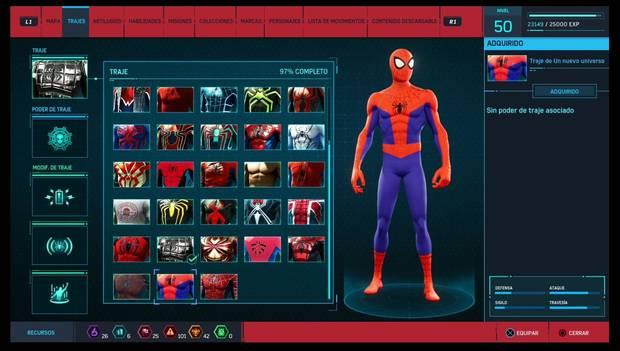 Marvel's Spider-Man - Trajes: Traje de Un nuevo universo