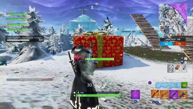 Fortnite Battle Royale - 14 días de Fortnite - usa regalos o bombas boogie