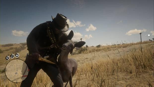 Red Dead Redemption 2 - Matar animales con el cuchillo
