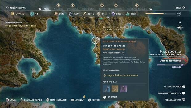 Assassin's Creed Odyssey DLC - Vengan los jinetes: localización