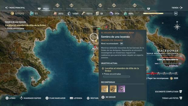 Assassin's Creed odyssey DLC - Sombra de una leyenda: localización