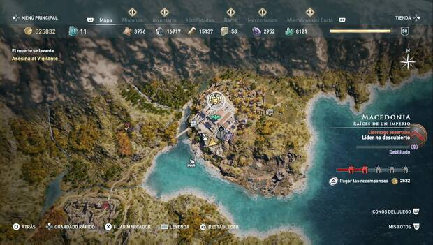 Assassin's Creed Odyssey DLC - Orden de los cazadores: Equión el Vigilante (ubicación)
