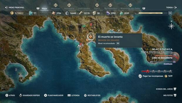 Assassin's Creed Odyssey DLC - El muerto se levanta: localización