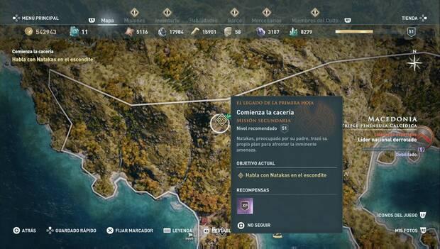 Assassin's Creed Odyssey DLC - Comienza la cacería: localización