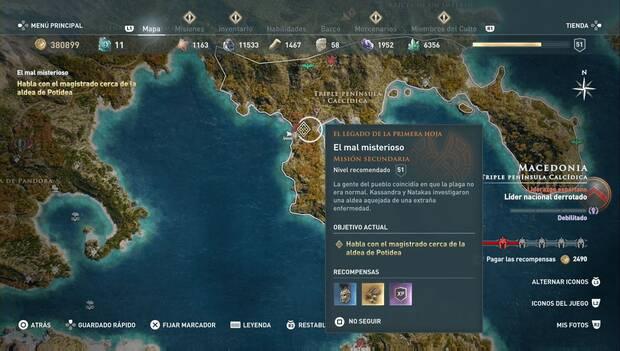 Assassin's Creed Odyssey DLC - El mal misterioso: localización