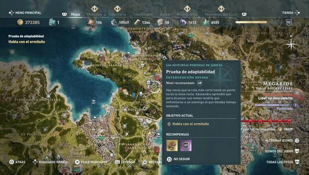 Assassin's Creed Odyssey - Historias periddas: Intervención divina: prueba de adaptabilidad