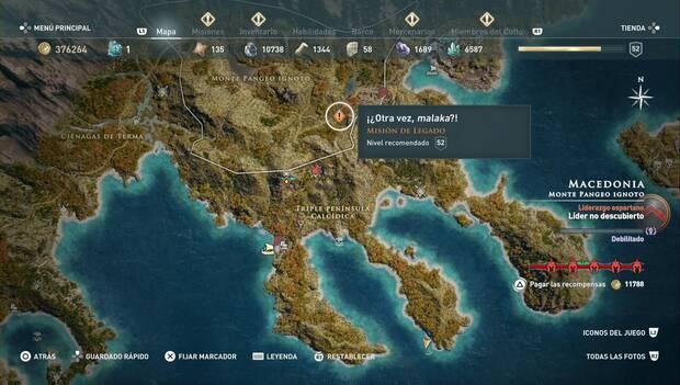 Assassin's Creed Odyssey DLC - Otra vez, malaka?: localización