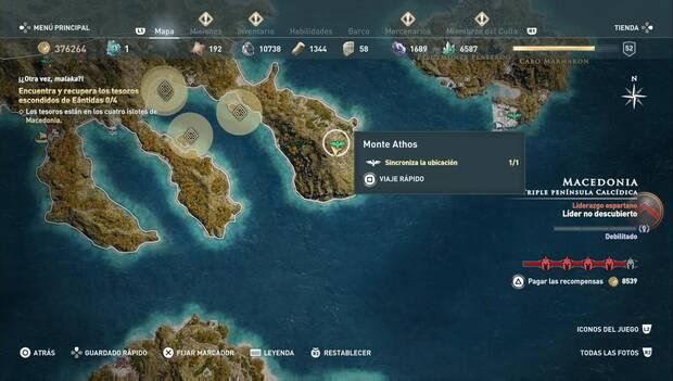 Assassin's Creed Odyssey DLC - El león de Macedonia: ubicación