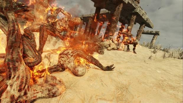 Metro Exodus - Enemigos en llamas