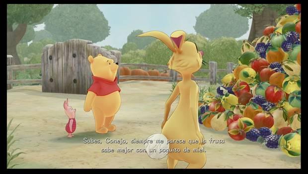 Kingdom Hearts 3 - Pooh habla con Conejo
