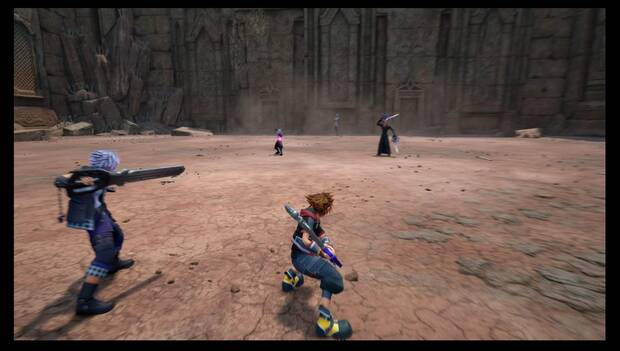 Kingdom Hearts 3 - Necrópolis de llaves espada: Ansem, Riku oscuro y Xigbar