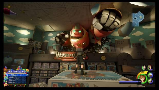Kingdom Hearts 3 - Fotomisiones: ¡Robogorila ha hecho un agujero en la pared, kupó!